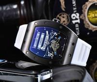 2020 Hot Vente Montre Homme Montre de luxe de couleur noire Bracelet en silicone Fashion Designer Montre Sport Quartz Analogique Horloge Relogio Masculino