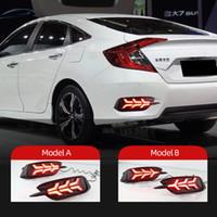 1 Set For Honda Civic 2016 2017 2018 LED Reflektör stop lambası Fren ikaz lambası Arka sinyali Sis Lambası Tampon ışık