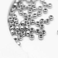 أخرى 2 ملليمتر 3 ملليمتر الفضة مطلية بالذهب براس سلس الخرز فاصل صغيرة مستديرة حبة للمجوهرات صنع 200pcs1