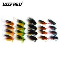 Wifreo 20PCS لون حلو السلمون الفولاذيه الصيد أنبوب ذبابة البحر كومبو باس المضايقون الأزرق البرتقالي اللون الأسود الأخضر 201106