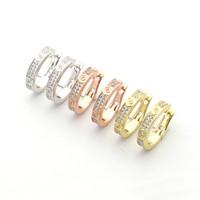 2021 Mode chaude Boucles d'oreilles en acier titane de marque célèbre bijoux célèbres Boucles d'oreilles en acier inoxydable 18K plaqué or classiques