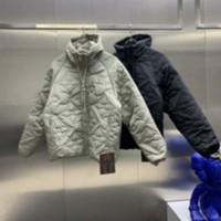 Homme Designers Vêtements Capuche à capuche à capuche Zipper Lettre Deux-face Coton Veste Mens d'hiver Hommes Designers Sweaters Men S Vêtements Noir 02