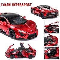 1:32 Lykan hypersport سبيكة نموذج سيارة دييكاست لعبة المركبات لعبة سيارة جمع معدن لعبة كيد لعب للأطفال أطفال الهدايا Y200109