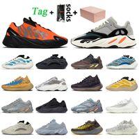 adidas kanye west yeezy 700 yeezy 380 700 v3 stock x com caixa mulheres homens running tênis Sólida cinza estática Vanta Calcite Glow Treinadores Treinadores Sneakers