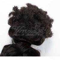 Brezilyalı İnsan Bakire Örgü Saç Atkı 3 Bundle 120g Afro Kinky Kıvırcık Doğal Su Dalga Tığ Örgü Saç