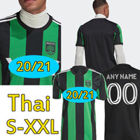 2021 Austin FC Jerseys de futebol Novo Inaugural MLS 21 22 Bold Home Preto Verde Dario Xavier Concha Kleber Baez Homens Kits Futebol Shirts Uniformes