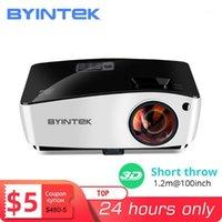 Proyectores Byintek k5 Tiro corto 4000Ansi Full HD 1080P Video DLP HABÍSTICO DE PROYECTOR DE PRINCIPALES 3D PARA LUZ DE DIAIRE Aula Educación Office1