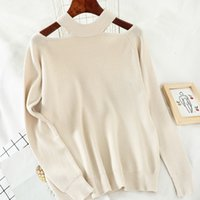 Heliar Donne Off Sweat Sweater per le donne Halter Fashion Manica lunga Casual Solid Knit Pullover Femme Maglione Autunno 201128