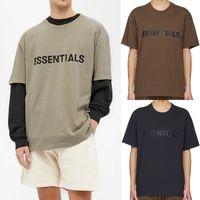 SS20 Silikon Ön Logo T-shirt Birden Çok Renkler Rahat Boy Tee Harajuku Hip Hop Kaykay T Shirt Erkek Kadın Streetwear