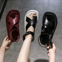 BJYL 2020 Yeni Yaz Kama Espadrilles Kadın Sandalet Toe Açık Gladyatör Sandalet Kadınlar Casual Kadın Platformu Sandalet B787 Y200702