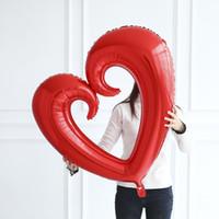 40inch 거대한 중공 심장 모양의 호일 풍선 발렌타인 데이 / 웨딩 파티 장식 큰 크기 붉은 마음 globos