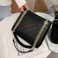 2021 High Capacity PU Leather Crossbody Bags Elegant Chain S...