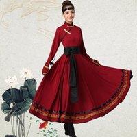 Ropa de traje mongol vestidos de baile folclórico chino ropa de vestir vestido de desgaste de la danza de la rotura Rendimiento Mongolian vestido TA21301