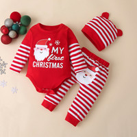 Three Pieces Suit Kids Clothes Long Sleeves Children Romper ...