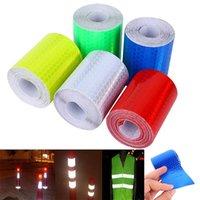 Mode Farbbandauto Reflektierende Aufkleber für LKW-Fahrradwarnung Lichtband Reflektierende Regenbogen-Band-Sicherheit Reflektierende Streifen
