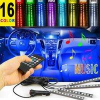 Okeen LED Auto Fuß Light Umgebungslampe mit USB Wireless Remote Music Control Multiple Modes Automotive Interieur Dekorative Light1
