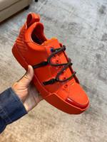 Dolce Gabbana shoes Spedizione gratuita 20SS New Mens Desi Portofino Sneakers Sneakers Luxu Design Scarpe da uomo in pelle di vitello e vernice