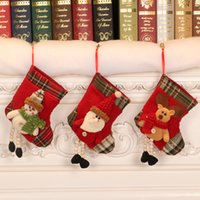 Christmas decorations for the elderly small socks tree pendants Christmas stockings gift bags Dropshipping F5001