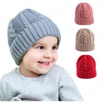 6 ألوان INS اطفال اطفال بنين بنات بيني فارغة الشتاء الجمجمة الكروشيه القبعات الجودة للأطفال حديثي الولادة قبعات القبعات ل0-3 سنوات