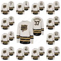 Boston Bruins Merkezi Buz Ekibi Beyaz Jersey Patrice Bergeron Ray Bourque David Pastrnak Torey Krug Bobby Orr Brad Marchand Tuukka Rask