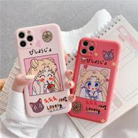 Karikatür Sailor Moon Noel Baba Telefon Kılıfı Için iphone 11 Pro XS Max X XR 6 6 S 7 8 Artı Sıvı Silikon TPU Noel Geyik Kapak