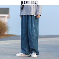 KAPMENTS Мужчины Вельвет Harajuku Wide Leg Брюки 2020 Комбинезоны мужских японских Streetwear Sweatpants Мужской Корейских Повседневные бегуны Брюки Q1110