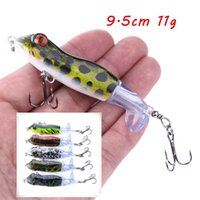 1pc 5 Color Mixed 9.5cm 11g Frog Hard Baits & Lures Fishing Hooks Fishhooks 6# Hook Pesca Fishing Tackle F37_K341