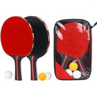Table Tennis raquets pingpong مضرب الكرة مجموعة 2 المجاذيف 3 للتدريب c55k sale1
