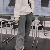 Mujeres Ocio ocasional Pantalones sueltos con bolsillos Cintura Elástica Pantalones Streetwear Hip Hop Sweat Pantalones