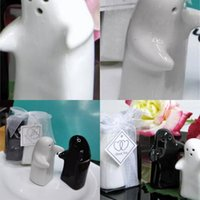 Sazonando Pot Cerámica Blanco Blanco Blanco Forma Forma Spice Jar Favores Giveaways Regalo Gift Pepper Botter Factory Venta directa 3 8by P1
