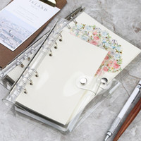 A5 A6 Spiral transparent PVC Notebook Cover Loose Diary Coil...