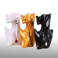 Modehars Mannequin Ketting Stand Sieraden Display Oorbel Ketting Hangers Houder Shelf Sieraden Organizer Showcase