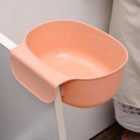 Cozinha lata de lixo de plástico Mobiliário doméstico Mobiliário de lixo cesta sólida cor de lixo lixo sem tampa porta quarto novo 1 29QH g2