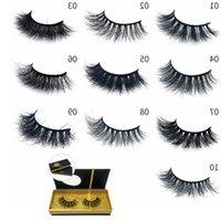 15set / lot 3D mink cils multicouches Mink faux cils Soft Naturel Cils épais cils Eye Lashes Extension Tool de beauté 10 Styles