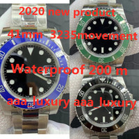 2020 جديد orologio دي لوسو 41 ملليمتر الفرعية 3235 حركة ماء الياقوت الزجاج مرآة، الربيع مشبك قابلة للطي مشبك رجل ووتش