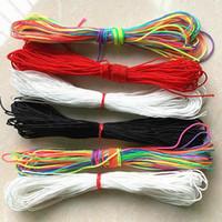 0.4 1,5 mm 10 metros de metros de cuerda de nylon rojo hilo chino nudo macrame cordón pulsera trenzado cadena bricolaje tassel de abalorios hilo H jllpgv