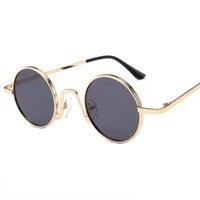 Designer Cheap occhiali vendita Steampunk di uomini e donne, gli occhiali di metallo rotondi del progettista, specchietto retrovisore, occhiali da sole da uomo 3390kayi