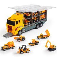 Большой грузовик игрушка 6шт мини-сплава Diecast автомобиль модель 1:64 Масштабные игрушки транспортные средства автомобили грузовики машины автомобильные игрушки для детей мальчики LJ200930