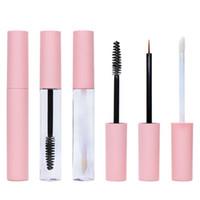 10 ml boş pembe pet plastik eyeliner dudak parlatıcısı maskara şişeleri tüp ile stoper diy makyaj jel sıvı konteyner