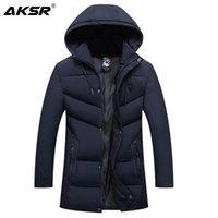 Erkek Trençkotlar Aksr Kış Ceket Kaban Kapşonlu Kalın Sıcak Erkekler Için Sıcak Büyük Boy Rüzgarlık Parkas Ceketler Giysileri 2021