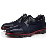 Zarif Tasarımcı Beyefendi Kırmızı Alt Loafer'lar Ayakkabı erkek Düz Derby Lug Taban Oxford Yürüyüş Ayakkabıları Parti Düğün Business Oxford Yürüyüş