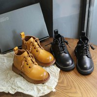 kız çizme Toddler ayakkabı yürümeye başlayan Vintage Gerçek Deri çocuk ayakkabı Butik çocuklar Martin çizme çocuk botları erkek botları bebek botları