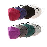 KN95 Monouso 5-6ply Meltbrown Face Mask Polvere con respiratore respiratore nero grigio grigio bianco maschere