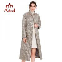 Astrid Frühlingsfrauenmantel Warm dünne Baumwolljacke Lang Slim Fit Art und Weise Standplatz Kragen hohe Qualität Outwear Trend Parka 7215 201026