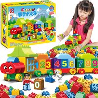 50pcs Duplo Numarası Tren Büyük parçacıklar Yapı Taşları Tren Numarası Tuğlalar Eğitici Bebek İl Oyuncaklar İçin Çocuk C1114