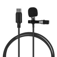 Andoer Mini Lapel Lavalier Clip-on Condenser Microphone Mic with Type-C Plug for   Huawei for Android Smartphone