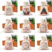 Gift Bag Candy Bag Canvas Creative Decoration Xmas Sack Draw...