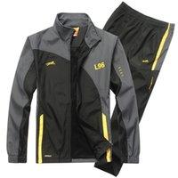 ECTİK Erkek Spor Takım Elbise Eşofman Spor Takım Elbise Erkek Koşu Takım Elbise Hızlı Kuru Egzersiz Fitness Jogging Spor Erkekler Eşofman Setleri 201116