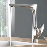 Waschbecken Waschbecken Wasserhahn Neue Ankunft Badezimmer Wasserhahn Luxus Messing gebürstetes Gold Fertig Kälte und Warmwasser-Tap-Mixer Chrom-Deckmontage