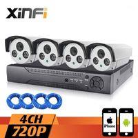 무선 카메라 키트 XINFI 4CH 1.0MP 감시 시스템 1080P NVR 네트워크 비디오 레코더 720P HD 홈 보안 DVR CCTV KIT1